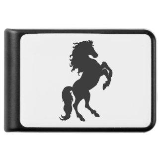 Rearing Black Stallion / Horse on White Power Bank