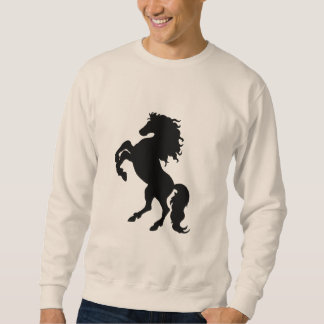 Rearing Black Stallion / Horse Sweatshirt