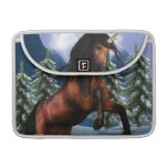 "Rearing Chestnut Unicorn 13"" MacBook Sleeve Sleeves For MacBooks"