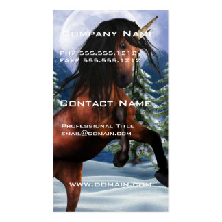 Rearing Chestnut Unicorn Business Cards