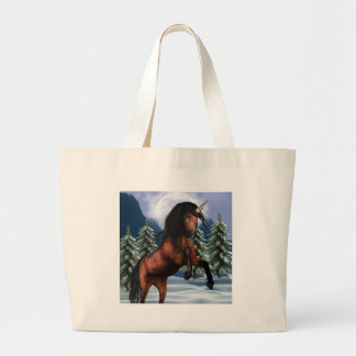 Rearing Chestnut Unicorn Canvas Bag