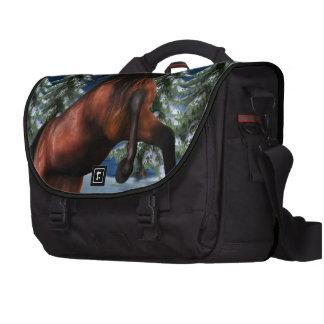 Rearing Chestnut Unicorn Laptop Commuter Bag