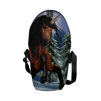 Rearing Chestnut Unicorn Messenger Bag
