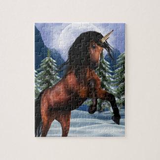 Rearing Chestnut Unicorn Puzzle