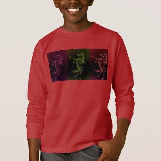 Rearing Friesian Horse three colors Toddler Shirt