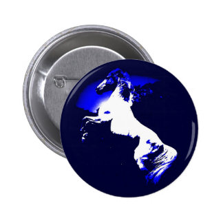 Rearing Horse 2 Inch Round Button