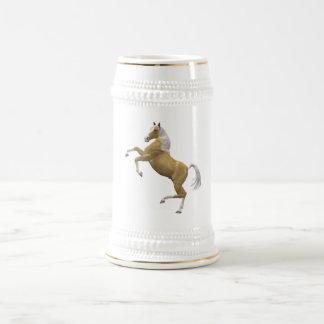 Rearing horse beer stein