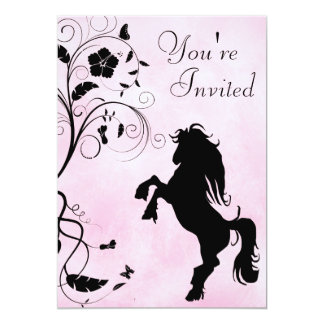 Rearing Horse Birthday Invitation