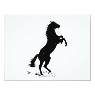 Rearing Horse Card