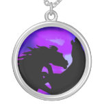Rearing Horse Design Necklace