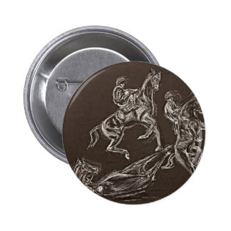 rearing horse drawings by Conway 2 Inch Round Button