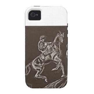 rearing horse drawings by Conway Case-Mate iPhone 4 Cover