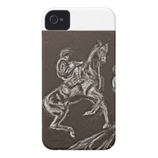 rearing horse drawings by Conway iPhone 4 Cases