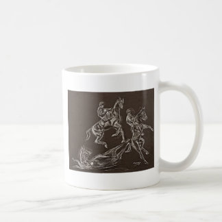 rearing horse drawings by Conway Coffee Mug