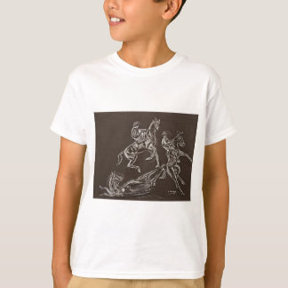 rearing horse drawings by Conway T-Shirt