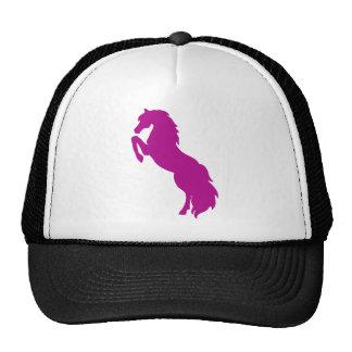 Rearing Horse in Grape Trucker Hat