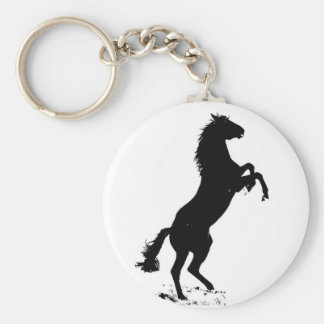 Rearing Horse Keychain