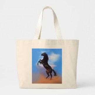 Rearing Horse Large Tote Bag