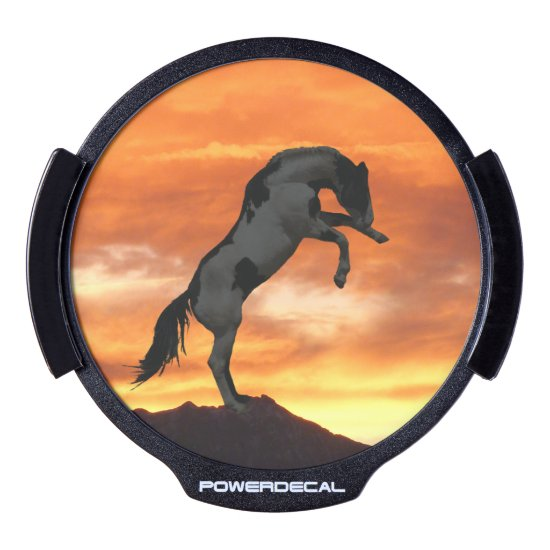Rearing Horse LED Window Decal