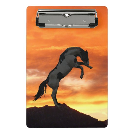 Rearing Horse Mini Clipboard