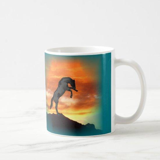 Rearing Horse Mugs
