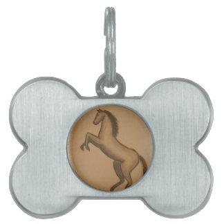 Rearing Horse Pet Name Tag
