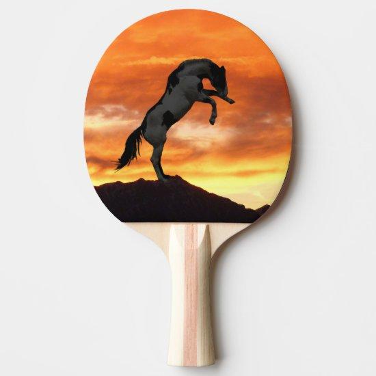 Rearing Horse Ping Pong Paddle