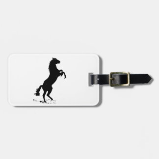 Rearing Horse Silhouette Luggage Tag