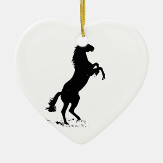 Rearing Horse Silhouette Christmas Tree Ornaments