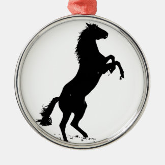 Rearing Horse Silhouette Christmas Ornament