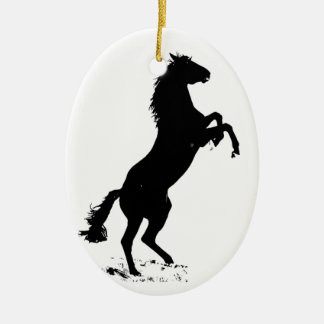 Rearing Horse Silhouette Christmas Ornaments