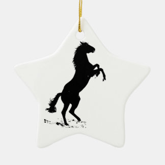 Rearing Horse Silhouette Christmas Tree Ornament