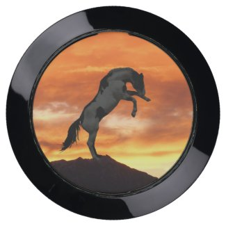Rearing Horse Silhouette USB Charging Station