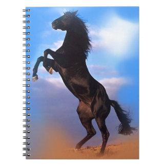Rearing Horse Spiral Notebook
