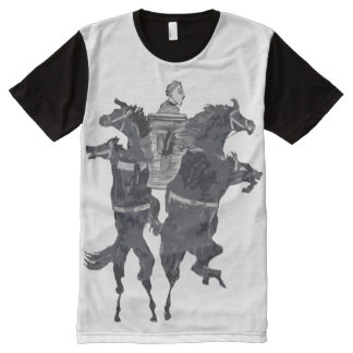 Rearing Horses All-Over Print T-shirt