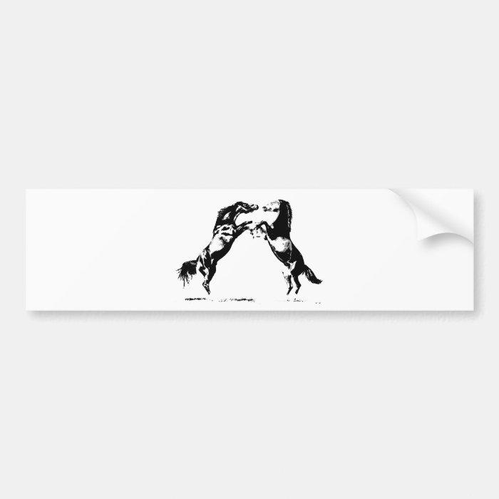 Rearing Horses Bumper Sticker