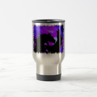 Rearing Horses Design Stainless Steel Travel Mug