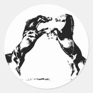 Rearing Horses Sticker