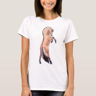Rearing Norwegian Fjord Horse Ladies Babydoll T-Shirt