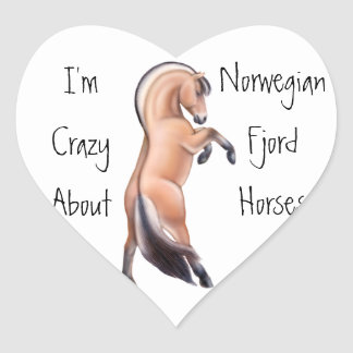 Rearing Norwegian Fjord Horse Love Sticker