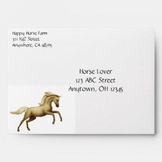 Rearing Palomino Horse Envelope
