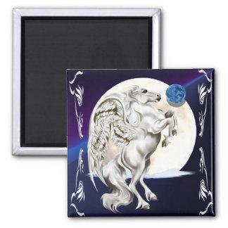 Rearing Pegasus Stallion Magnet