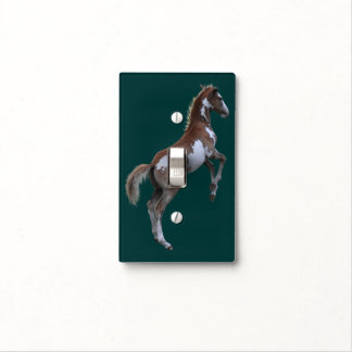 Rearing Pinto Filly Ranch Horse Light Switch Cover