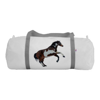 Rearing Pinto Paint Stallion Horse Gym Bag