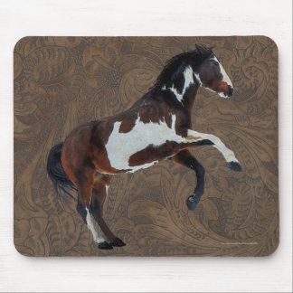 Rearing Pinto Paint Stallion Horse Mouse Pad