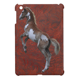 Rearing Pinto Pony & Tooled Leather-effect Case For The iPad Mini