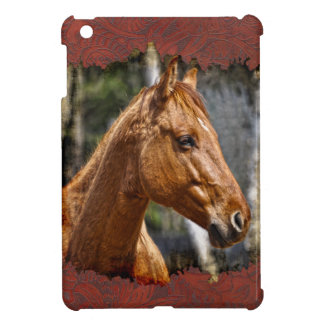 Rearing Pinto Pony & Tooled Leather-effect iPad Mini Cover