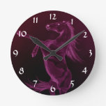 Rearing purple friesian Clock