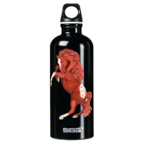 Rearing Roan Appaloosa Horse Water Bottle