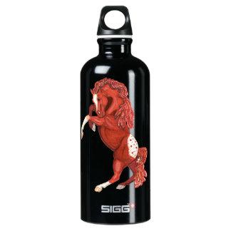 Rearing Roan Appaloosa Horse Water Bottle